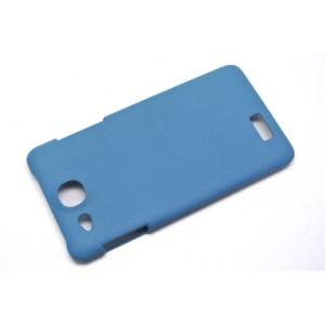 Пластиковый матовый чехол для Alcatel One Touch Idol Ultra Синий