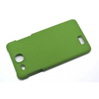 Пластиковый матовый чехол для Alcatel One Touch Idol Ultra Зеленый