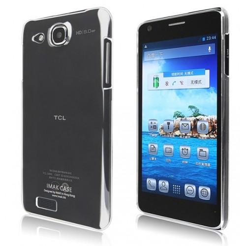 Пластиковый транспарентный чехол для Alcatel One Touch Idol Ultra