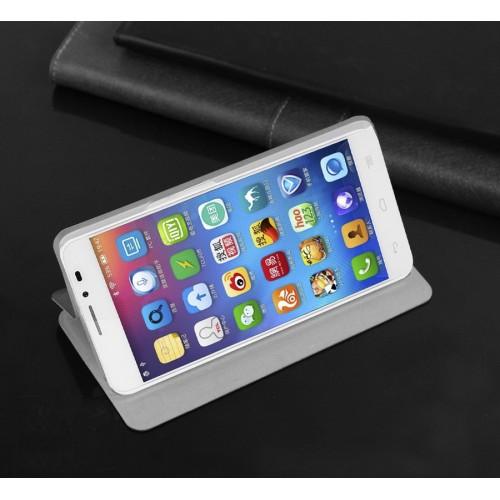Чехол флип подставка водоотталкивающий для Alcatel One Touch Idol X+