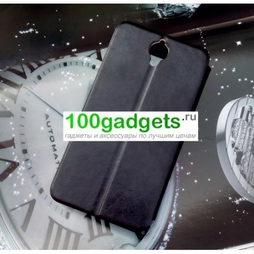 Чехол флип подставка с окном вызова для Alcatel One Touch Idol X+