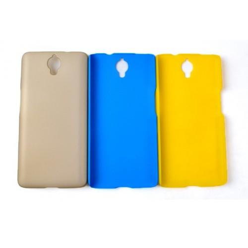 Пластиковый матовый непрозрачный чехол для Alcatel One Touch Idol X+ Голубой