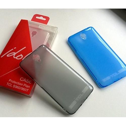Оригинальный силиконовый чехол для Alcatel One Touch Idol X+ Белый
