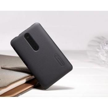 Пластиковый матовый премиум чехол для Nokia Asha 501 Черный