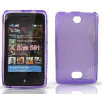Бампер для Nokia Asha 501 Фиолетовый