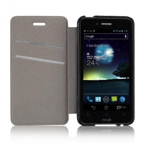 Чехол флип Phone Cover для Asus PadFone mini 4.3 Коричневый