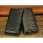 Кожаный чехол портмоне (нат. кожа крокодила) для Blackberry Z30