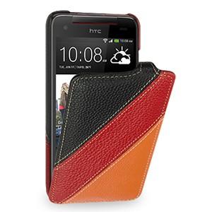 Кожаный чехол книжка вертикальная (2 вида нат. кожи) для HTC Butterfly S