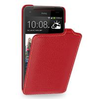 Кожаный чехол книжка вертикальная (нат. кожа) для HTC Butterfly S Красный
