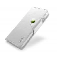 Кожаный чехол книжка горизонтальная для HTC Butterfly S Белый