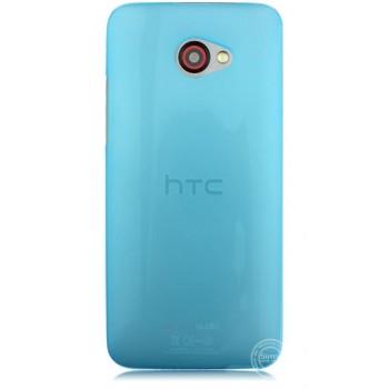 Пластиковый ультратонкий чехол для HTC Butterfly S Голубой