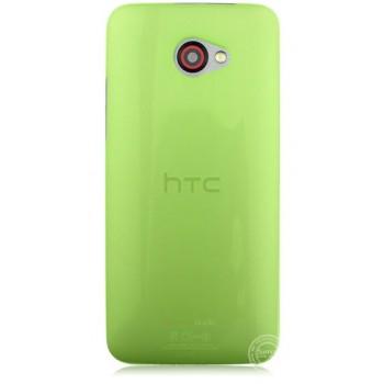 Пластиковый ультратонкий чехол для HTC Butterfly S Зеленый