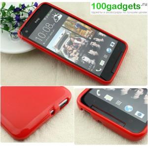 Силиконовый чехол для HTC Butterfly S Красный