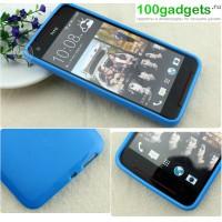 Силиконовый чехол для HTC Butterfly S Голубой