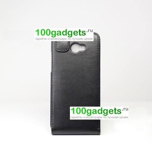 Кожаный чехол книжка вертикальная для HTC Butterfly S