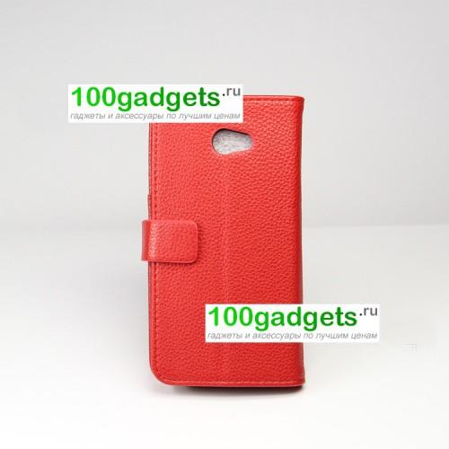 Чехол портмоне подставка для HTC Butterfly S Красный