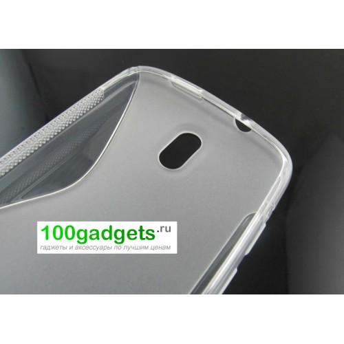 Силиконовый чехол S для HTC Desire 500 Белый