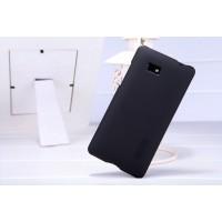 Пластиковый матовый премиум чехол для HTC Desire 600 Черный