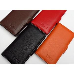 Кожаный чехол портмоне (нат. кожа) для HTC Desire 600