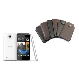 Кожаный мешок для HTC Desire 300