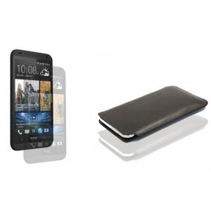 Кожаный мешок для HTC Desire 601 Коричневый