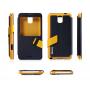 Чехол флип подставка текстурный с окном вызова Samsung Galaxy Note 3