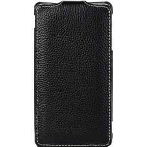 Кожаный чехол книжка для Lenovo IdeaPhone S920 Черный