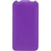 Чехол кожаный книжка вертикальная для Sony Xperia ZL Фиолетовый