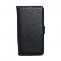 Кожаный чехол книжка горизонтальная подставка для LG Optimus F5 Черный