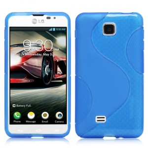 Силиконовый чехол S для LG Optimus F5 Голубой
