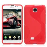 Силиконовый чехол S для LG Optimus F5 Красный