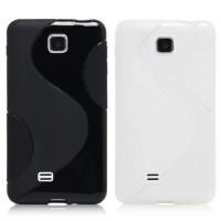 Силиконовый чехол S для LG Optimus F5 Черный