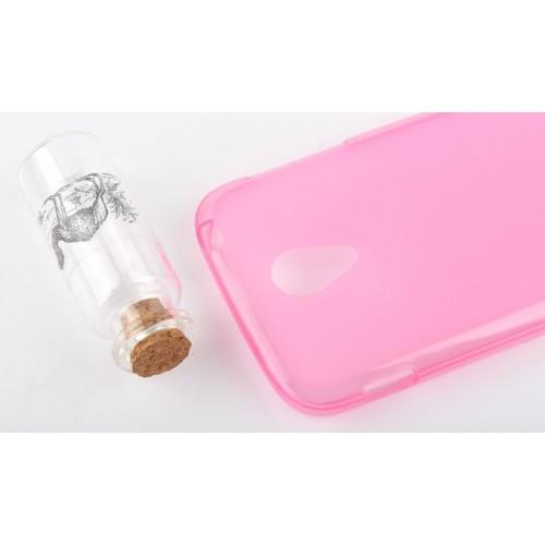 Силиконовый чехол для FLY IQ4404 SPARK Розовый