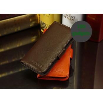 Кожаный чехол портмоне (нат. кожа) для Fly IQ4410 Quad Phoenix