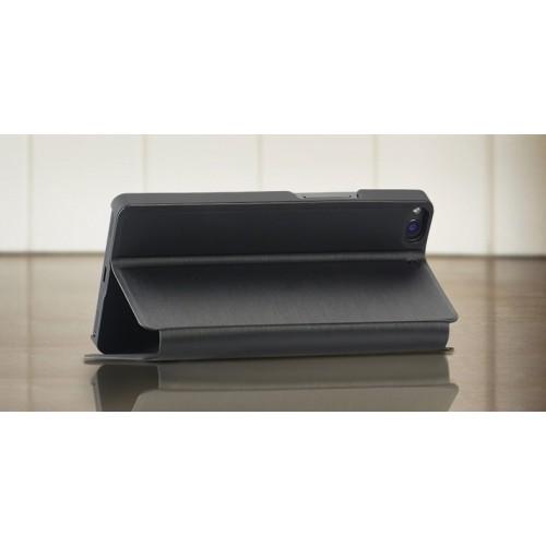 Оригинальный чехол флип подставка для Fly IQ453 Luminor Черный