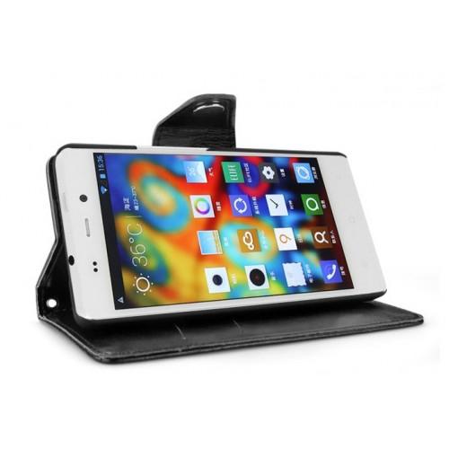 Кожаный чехол портмоне подставка для Fly IQ453 Luminor