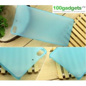 Пластиковый полупрозрачный чехол для Fly IQ453 Luminor Голубой