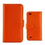Кожаный чехол портмоне (нат. кожа) для Fly IQ453 Luminor