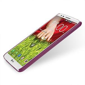 Кожаный чехол накладка Back Cover (нат. кожа) для LG Optimus G2 фиолетовая