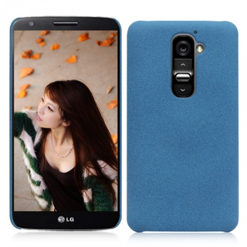 Пластиковый матовый чехол для LG Optimus G2 Голубой