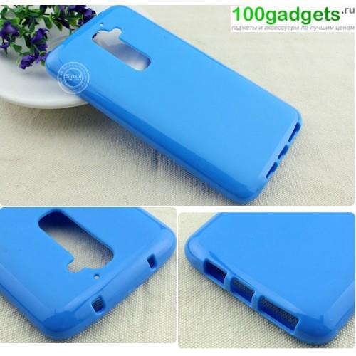 Силиконовый чехол для LG Optimus G2 Голубой