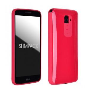 Силиконовый премиум чехол серия Ergonomic для LG Optimus G2 Красный