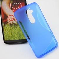 Силиконовый чехол S для LG Optimus G2 Голубой