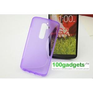 Силиконовый чехол S для LG Optimus G2 Фиолетовый
