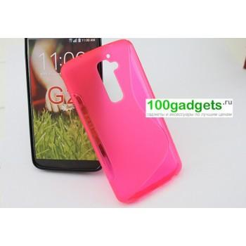 Силиконовый чехол S для LG Optimus G2 Розовый