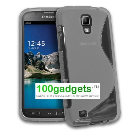 Силиконовый чехол S для Samsung Galaxy S4 Active Голубой
