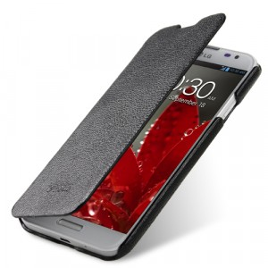 Чехол кожаный книжка горизонтальная (нат. кожа) для LG Optimus G Pro E988