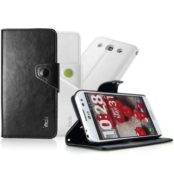 Чехол кожаный портмоне подставка для LG Optimus G Pro E988