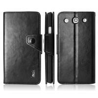Чехол кожаный портмоне подставка для LG Optimus G Pro E988 Черный