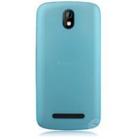 Пластиковая накладка полупрозрачная для HTC Desire 500 Голубой